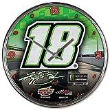 WinCraft NASCAR Joe Gibbs Racing Kyle Busch NASCAR Kyle Busch #18 Chrome Clock, Multi, na (2994920)