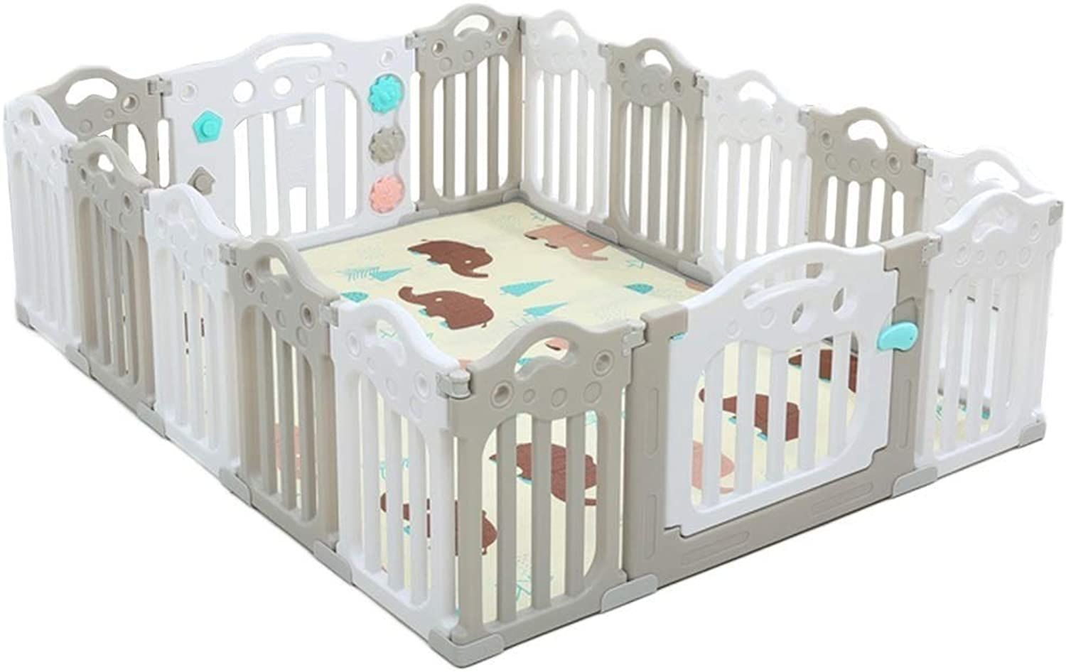 Baby Plastic Game Fence Indoor Outdoor Folding Security Activity Center (Size   225.5X151.5CMX60CM)