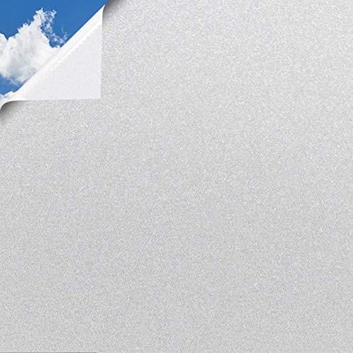 SA ROCA® [6,65€/m² Fensterfolie selbsthaftend Blickdicht [WUNSCHMAß I BIS 50M AM STÜCK] Milchglasfolie selbstklebend I Statische Sichtschutzfolie Fenster I Milchglas Fenster Folie Sichtschutz