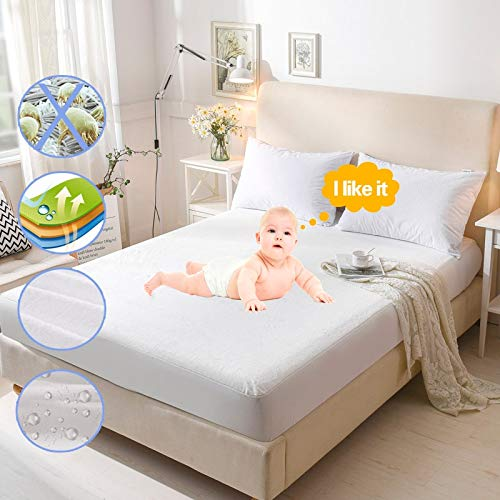 BEDDIANTAO Waterdichte Matrasbeschermer Dekbedovertrek Matrasbeschermer Topper Waterdichte Matrasbeschermer Lit Matrashoes Anti Mite Waterprood Matrasbeschermer Pad 1 Pc