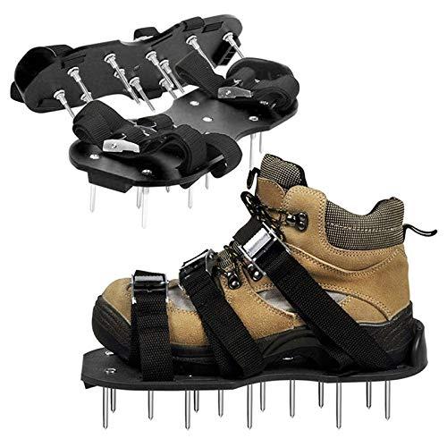 YDBET Aérateur Chaussures avec Buckles en métal et 3 Sangles Heavy Duty clouté Sandales Garden De Spike Chaussures à gazéifier Votre pelouse de Jardin