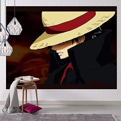 Una pieza de tapiz de decoración de pared pieza de decoración de anime gruesa y de alta calidad una pieza 150x100cm / 150x130cm / 200x150cm 7 tamaños