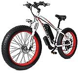 26' E-Bike Bicicletas Electricas de Montaña, 48v 17.5A Bici Electrica para Adultos, Bike Electric Sistema de Transmisión de 21 Velocidades