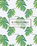 Planner 2017- 2018 ,Academic Planner Weekly And Monthly : Oct 2017 - Dec 2018: Palm leaves in green tone Watercolor,8' x 10' 40 Page: Volume 4 (Planner 2017-2018 and Calendar)