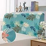 Funda de cabecero de cama, funda de protección de cabecera elástica, protección elástica de diseño todo incluido, verde vacaciones 180-200 cm