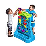 Step2 Waterfall Discovery Wall | Double-Sided Outdoor Water Play Set with 13-Pc Water Accessory Set