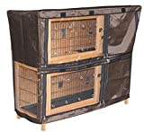 Easipet Rabbit Hutch Cover - Waterproof and wind resistant in 5 sizes (2 tier 4ft (fits FED21339))
