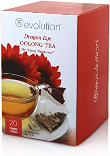 Revolution Tea - Dragon Eye Oolong Tea | Premium Full Leaf Infuser Teabags (20 Bags)