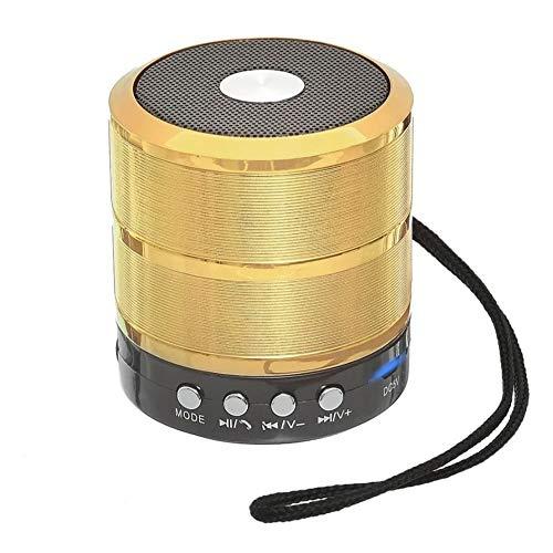 Caixa De Som Bluetooth 5w Portátil Grasep D-BH887-1 Cor:Dourado