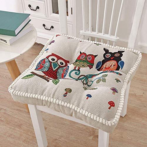 KTDT Juego de 2 Cojines de Asiento Cojín de Refuerzo Cubierto 100% de algodón Almohadillas de Asiento Gruesas Silla/sillón/Silla de jardín para Adultos de 10 cm (4 ') Extra Firme