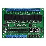 Módulo de control de relé, Módulo de control de relé de 10 canales Pantalla de dígitos PLC/Autobloqueo/Enclavamiento/Encendido/apagado momentáneo