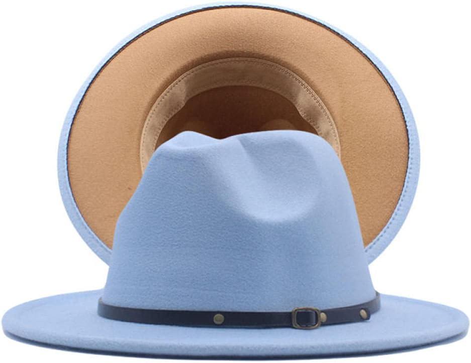 ileibmaoz Fedora Trilby Sombrero De Vestir Sombrero De Copa Sombrero A Juego De Dos Colores Americana para Hombres Y Mujeres