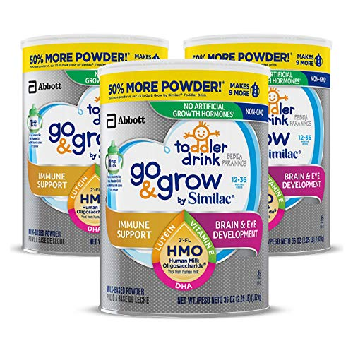 Go & Grow by Similac Toddler Drink, 3 Cans, with 2'-FL HMO...