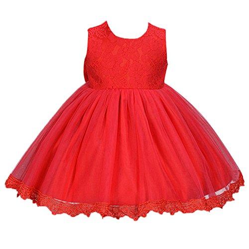 Happy Cherry Babymädchen Kleider Baby Süßes Kleid Kleine Prinzessin Kleid Ärmelloses Falten...