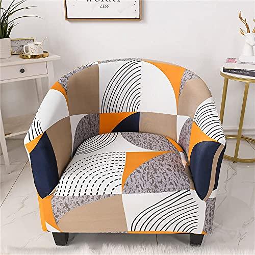 Funda elástica para sillón de bañera, 1 pieza, para sillón, a prueba de polvo, extraíble, lavable, de estilo geométrico abstracto, protector de muebles, fundas de sofá para sala de estar (radian)