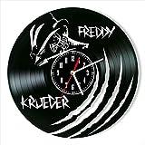 YYIFAN Reloj de vinilo de 12 pulgadas Freddy Krueger, modern