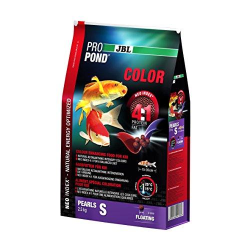 JBL Nourriture Colorée pour Koïs, Granules Alimentaires Flottants, Nourriture Spéciale, ProPond Color, Taille: S, 2,5 kg