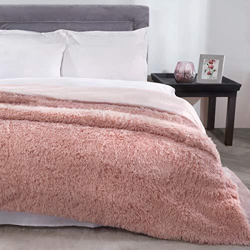 Sleepdown Blush-Manta para Cama (150 x 200 cm), Color, Poliéster, Rosa encarnado