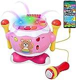 Juguete del bebé musical del tambor, IGO GLOBAL Niños pequeños juguetes para niños niños muchachos juguete de batería de música con rotación libre de 360 °, instrumentos musicales para bebés para 1-