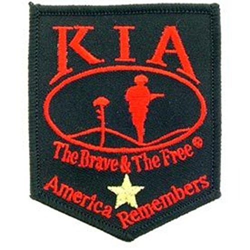 KIA Killed In Action Patch Militär Geschenke Patches für Jacken, Hüte, Westen