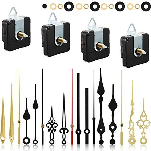 4 Stücke Quarz Uhr Uhrwerk Mechanismus Nicht Tickender DIY Uhrwerk Mechanismus mit 6 Uhrzeiger Sets für Reperatur Teile Ersatz