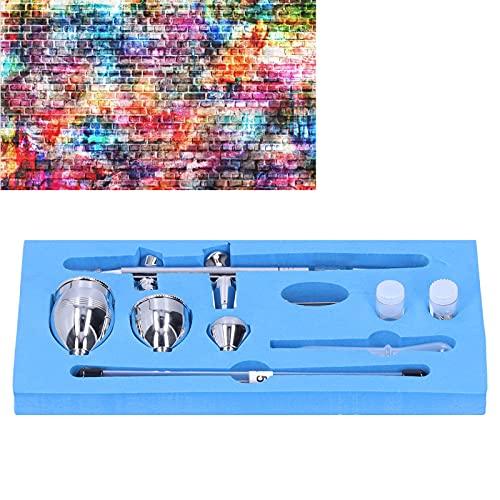 Caneta Air Brush, Conjunto Aerógrafo Pintura Aerógrafo Spray Mini para Decoração de Bolo para Artesanato para Maquiagem para Unhas