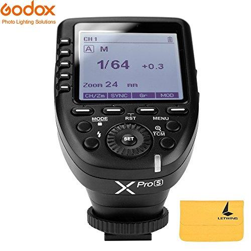 Godox XPro-S 2.4G TTL Wireless Blitzauslöser Wirless X System High-Speed mit großen LCD-Bildschirm-Sender für Sony Kamera
