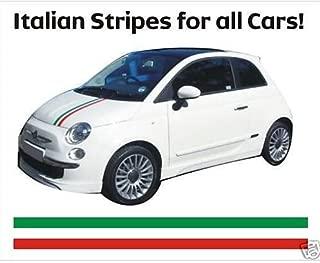 Fiat 500 bonnet decal stripes Italian flag 100cm (green Ð white - red)