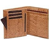 SIMARU Kork Geldbörse Herren, Premium Portemonnaie/Geldbeutel für Männer; Vegan mit RFID Schutz, nachhaltige Lederalternative, langlebig, robust & wasserabweisend