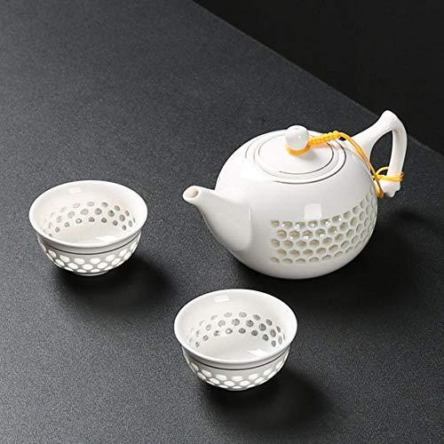Chino azul y blanco exquisito de cerámica tetera té taza de té de porcelana china kung fu té set de bebidas Gaiwan-B-1