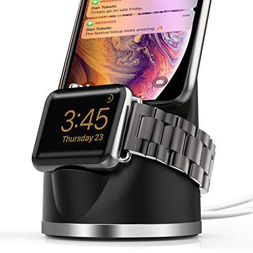OLEBR Charging Stand Compatible with iWatch 4, Airpod iPhone X/8/8Plus/7/7Plus/6s/6s Plus Dock, 2 in...