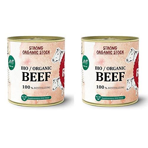 Caldo de Ternera BEEF para Perros 300 ml - Orgánico Sin Conservantes - Aporte COLÁGENO para Huesos y articulaciones | ANIMALUJOS (2 LATAS 300 ML)