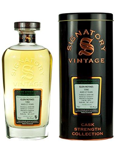 Signatory Vintage Glenrothes Fusto Forza Collezione Scotch di Malto Singolo Invecchiamento 27 Anni - 700 ml