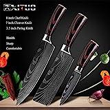 Arcos PC 1 Cocina Chef Cuchillos Set 8 Pulgadas Modelo japonés 7Cr17 440C Alto Contenido de Carbono del Acero Inoxidable de Damasco láser de Herramientas Santoku rebanar Chino