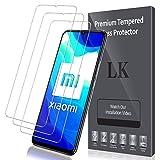 LK Compatible con Xiaomi Mi 10 Lite 5G Protector de Pantalla,3 Pack,9H Dureza Cristal Templado, Vidrio Templado Screen Protector, X-8