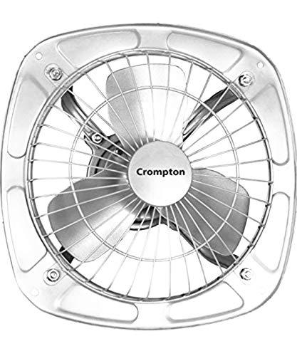 Crompton Drift Air Plus 8-inch Metal Exhaust Fan (Silver)