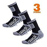 Warm Socks for Men Hockey Hiking Athletic Moisture Wicking Trekking Sports Crew Winter Sock Mens Women Boys (Small, Black)
