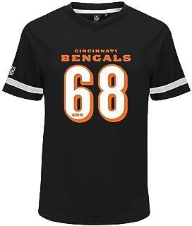Cincinnati Bengals NFL Camiseta de poliéster con cuello en V