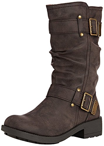 Rocket Dog Damen Trumble Biker Boots, Schwarz (Black AG7), 40 EU