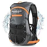 Chameleon Hydration Backpack - Waterproof Breathable Camel Water Bag Pack for Trail Running Biking...