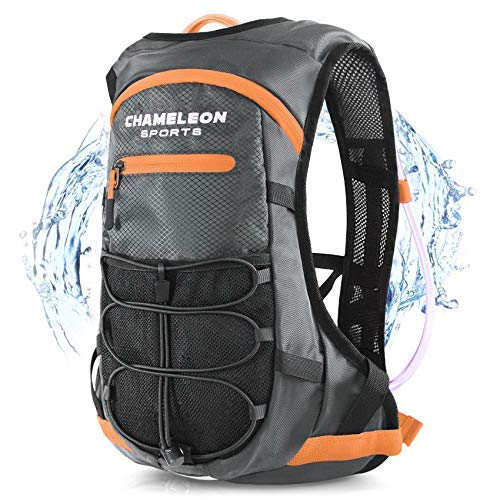 Chameleon Hydration Pack & 2L Hydration Water Bladder | High Flow Bite Valve | Hydration Backpack with Storage | Lightweight Running Backpack for Cycling, Hiking, Ski, Snow for Men, Women & Kids
