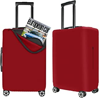 Travel Luggage Covers Suitcase Protector Stretchy Spandex Suitcase Cover Bag with Built in Front Zipper Fits 19-30inch Lug...