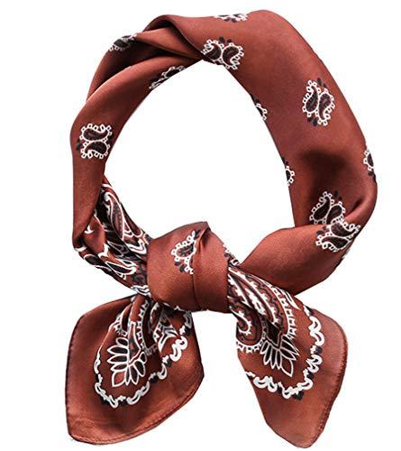 Square Silk Feeling Neckerchief Handbag Hair Scarf Bracelet Gift For Women/Men FGJ0118