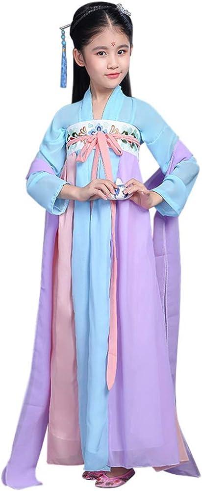 Lazutom Girls' Ancient Chinese Traditional Hanfu Dress Fancy Dress Halloween Christmas Party Dress