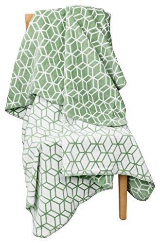 MOON 3D Luxus Kuscheldecke Wolldecke 150x200-grün