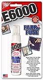 E6000 Fabri Fuse Pegamento adhesivo para tela, fieltro, metal, madera, vidrio, goma, cinta, encaje, cuero, 59,1 ml