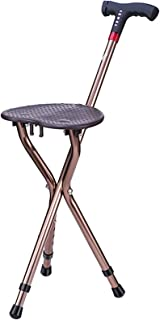 Cane Chair-Walking Stick Chair-Slip Intelligent Crutches-Multifunktionell Cane med Seat-Crutches Pall för äldre-Stick med ...