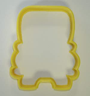 SCHOOL YELLOW BUS FRONT VIEW STUDENT TRANSPORTATION SPECIAL OCCASION COOKIE CUTTER BAKING TOOL 3D PRINTED MADE IN USA PR836