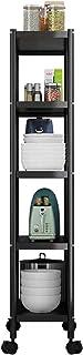 Étagères de Rangement 22 cm de Large Tour de Rangement de Cuisine Mince avec Roues, Très Grand Organisateur de Chariot Rou...