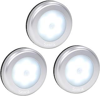 Motion Sensor Light, Searik Battery Powered LED Night Light Step Lights Stair Closet Light Under-Cabinet Lighting Stick On...